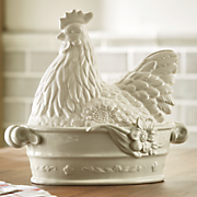 rooster dish by fitz   floyd