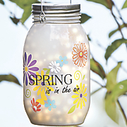 solar spring mason jar