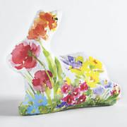garden bunny shaped pillow