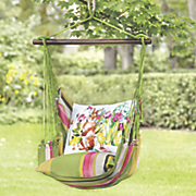 spring bunny hammock swing and pillow