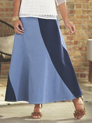 Chenai Denim Maxi Skirt