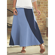 chenai denim maxi skirt