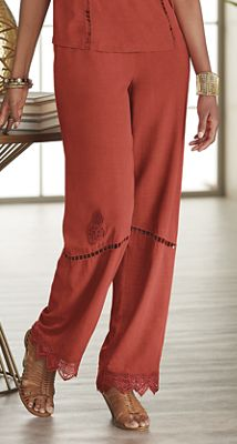 Brisa Embroidered Pant