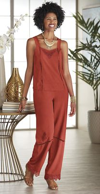 Brisa Camisole and Embroidered Pant