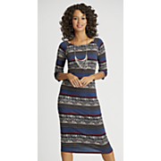 isla blue column dress