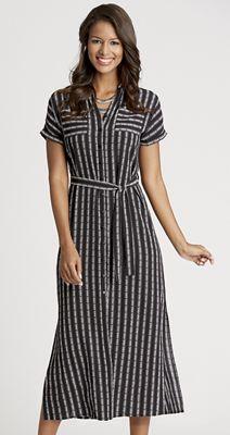 Stripe Duster Dress