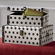 set of 2 polka dot boxes
