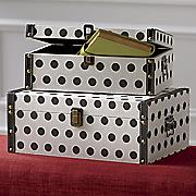set of 2 polka dot boxes