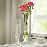 glass finial tealight holder and vase