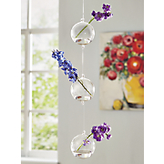 glass triple ball chain planter