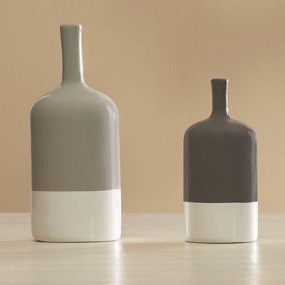 Set of 2 Two-Tone Vases