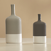 set of 2 two tone vases