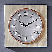 wood   copper clock