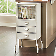 metal cream cabinet