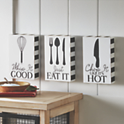 set of 3 kitchen signs