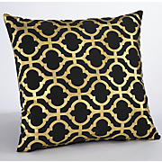 gold grille pillow