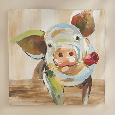 Abstract Pig Art