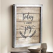 today i choose joy framed art