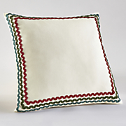 wave trimmed pillow