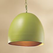 lime metal ceiling light