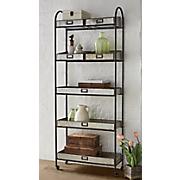 5 tier metal storage shelf