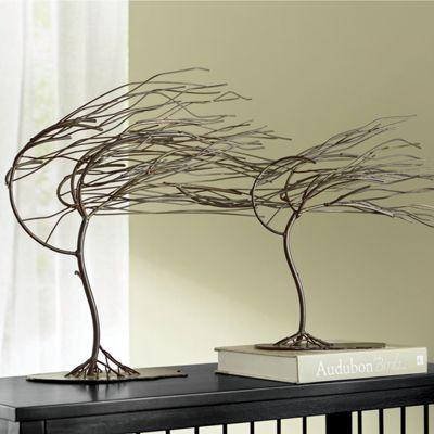 Set of 2 Windy Woods Tree Sculptures