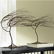 set of 2 windy woods tree sculptures
