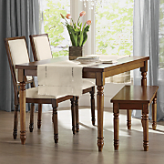 Dining Table Set of 2 Dining Chairs and Dining Bench