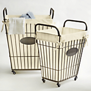 set of 2 wire laundry baskets