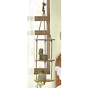 3 tier hanging wood shelves