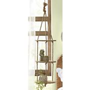 3 tier hanging wood shelves