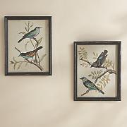 set of 2 masley framed bird art