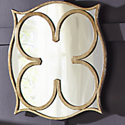 golden floral geo mirror