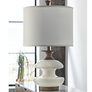 white wood lamp