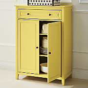 yellow 2 door cabinet