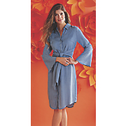 kami tie front shirt dress