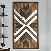 wooden mirror art