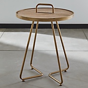 accent table with handle