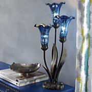 color rich lilies lamp