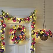 faux daisy lit floral decor