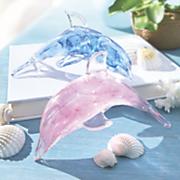 glass glow dolphin figurine