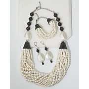 white faux pearl jewelry
