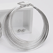 multi wire collar and earring set