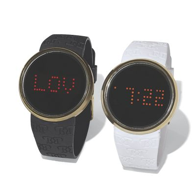 Digital/Message Rubber Strap Watch