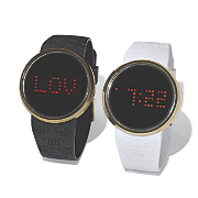 digital message rubber strap watch