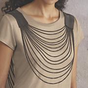 mesh front   back necklace