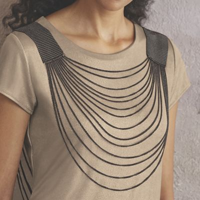 Mesh Front & Back Necklace