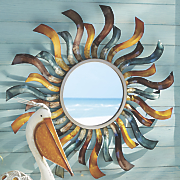 sun mirror wall art
