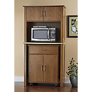 2 in 1 microwave hutch with pull out cart