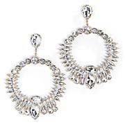 glass drop earrings